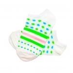 جوراب مچی هانسو طرح حلقهای ستارهدار سفید سبز