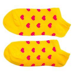 جوراب مچی زرد طرح قلب هانسو