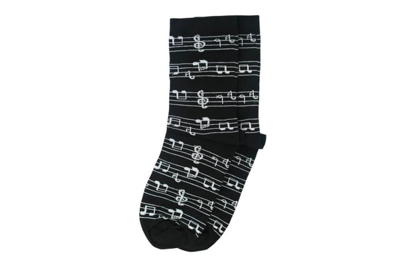 جوراب ساق دار طرح نت موسیقی مدل HSS101