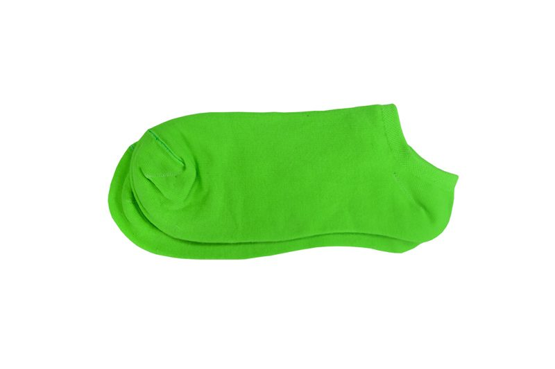 تصویر جوراب مچی ساده سبز