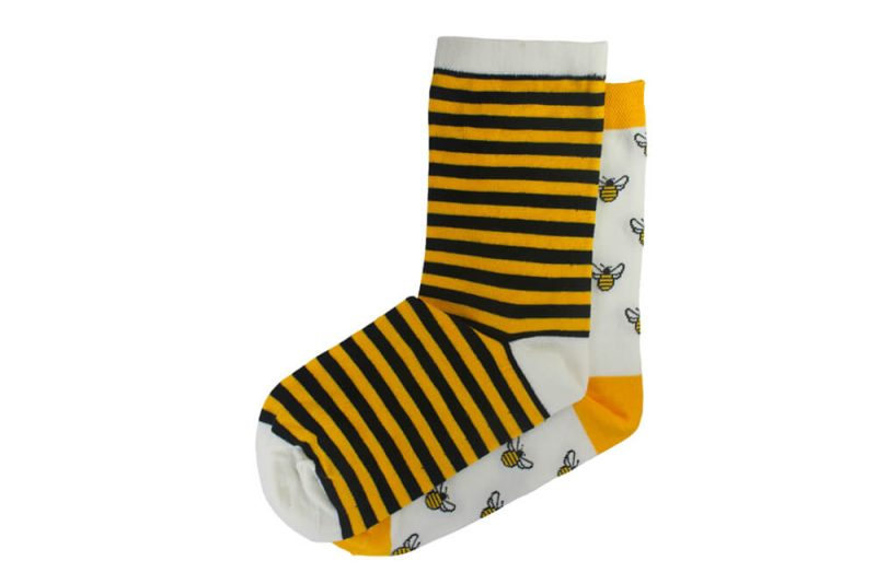 جوراب ساق دار لنگه به لنگه طرح زنبور عسل مدل HSS154