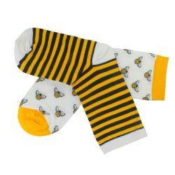 جوراب ساق دار لنگه به لنگه طرح زنبور مدل HSN154