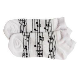 جوراب مچی سفید طرح نت موسیقی
