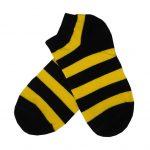 جوراب مچی طرح زنبوری (راه راه زرد و مشکی)