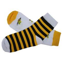جوراب نیم ساق لنگه به لنگه طرح زنبور مدل HSN144