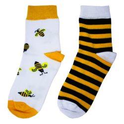 جوراب نیم ساق لنگه به لنگه طرح زنبور عسل مدل HSN144