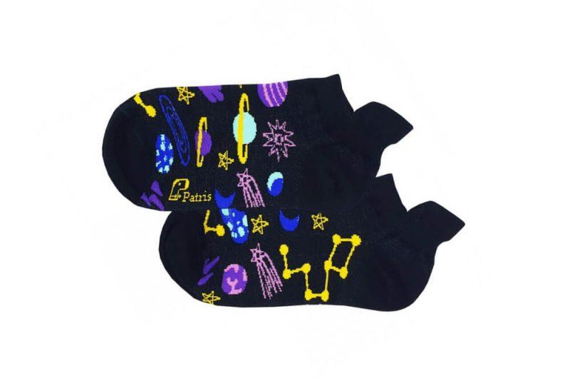 جوراب مچی مشکی طرح کهکشان مدل PSM264