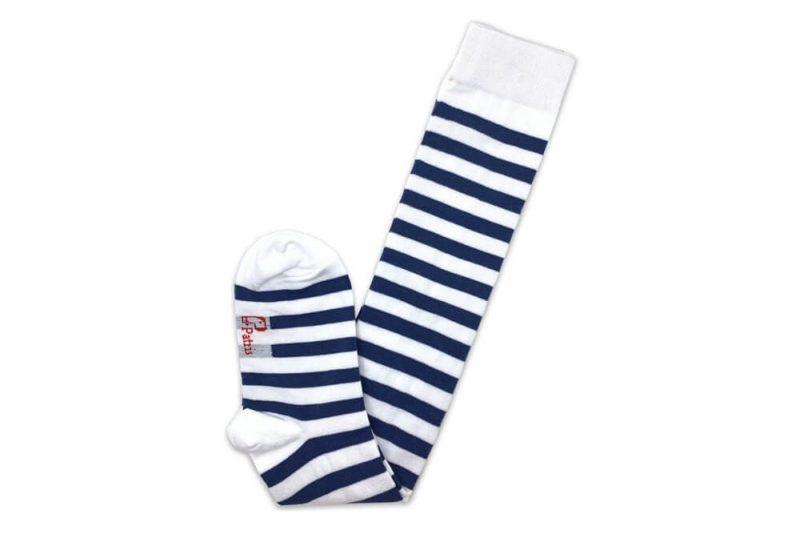 جوراب ساق بلند طرح راه راه سبز و سفید مدل PSB322