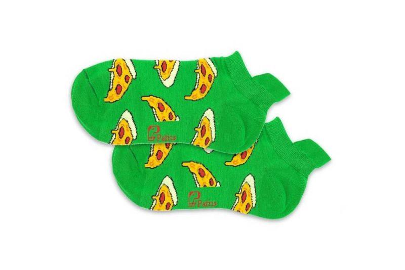 جوراب مچی سبز طرح پیتزا مدل PSM292