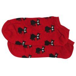 جوراب مچی قرمز طرح گربه مدل HSM332