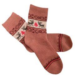 جوراب پشمی ساق دار صورتی مدل HSB110