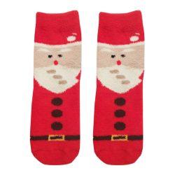جوراب ساق دار بوکله طرح بابانوئل مدل HSS356
