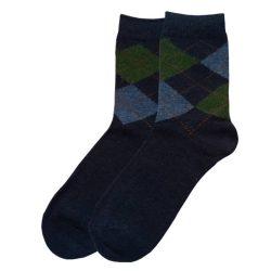 جوراب پشمی مردانه ساق دار سورمهای مدل HSBM101
