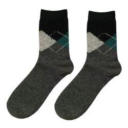 جوراب پشمی مردانه ساق دار خاکستری مدل HSBM104