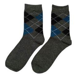 جوراب پشمی مردانه ساق دار خاکستری مدل HSBM105