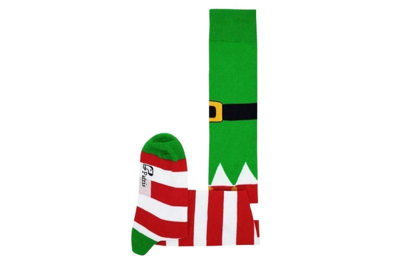 جوراب ساق بلند طرح کریسمس مدل HSB398