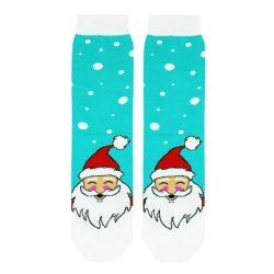 جوراب ساق دار صاف طرح بابانوئل مدل PSS387