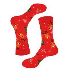 جوراب ساق دار طرح گوزن کریسمس مدل PSS390