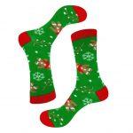 جوراب ساق دار طرح کوکی کریسمس مدل PSS391