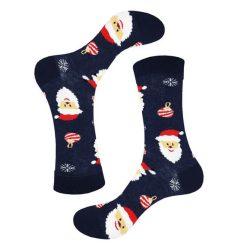 جوراب ساق دار سورمهای طرح بابانوئل مدل PSS393