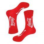 جوراب ساق دار طرح کوکاکولا مدل PSS400
