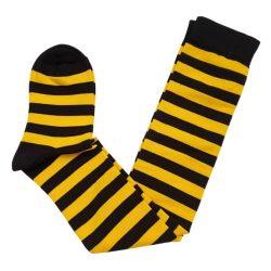 جوراب ساق بلند طرح راه راه زنبوری (زرد و مشکی) مدل HSB473