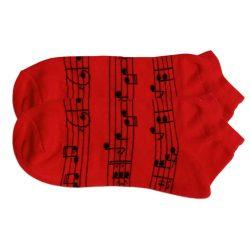 جوراب مچی قرمز طرح نت موسیقی مدل HSM465