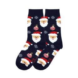 جوراب بچگانه ساق دار طرح بابانوئل مدل PSSK433