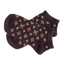 جوراب قهوهای مشکی طرح لویی ویتون (Louis Vuitton) مدل HSM510