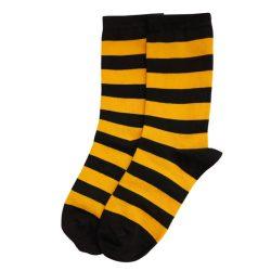 جوراب ساق دار طرح راه راه زنبوری (زرد و مشکی) مدل HSS488