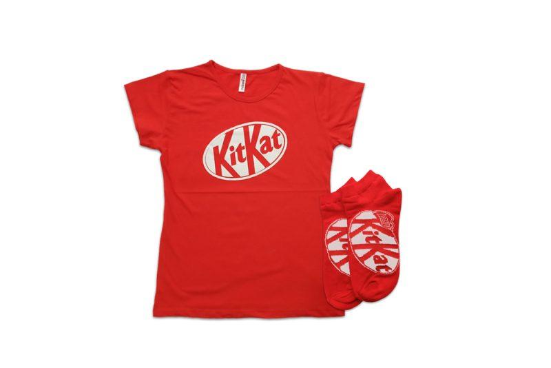 ست تی شرت و جوراب مچی طرح کیت کت مدل KitiKatSet101