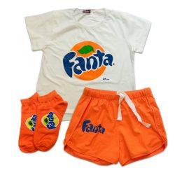 ست تی شرت و شورتک و جوراب مچی طرح فانتا مدل FantaSet101