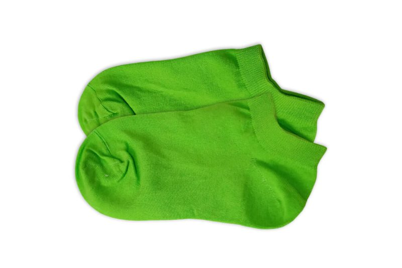 جوراب مچی ساده سبز روشن مدل HSM533