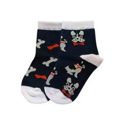 جوراب بچگانه تا به تا طرح سگ و استخوان مدل HSSK528