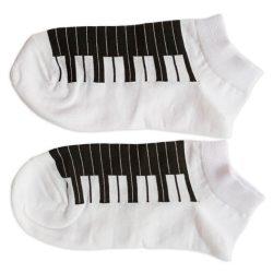 جوراب مچی سفید طرح پیانو مدل HSM567