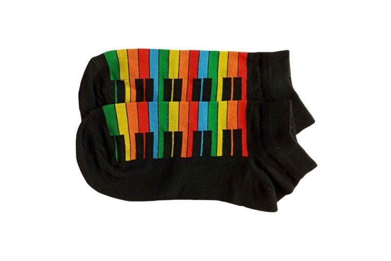 جوراب مچی مشکی طرح پیانو مدل HSM568