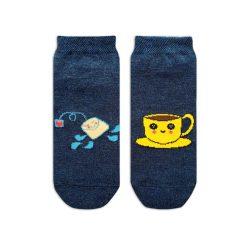جوراب بچگانه تا به تا طرح فنجان چای مدل HSMK605