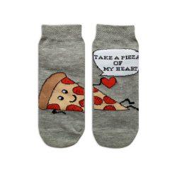 جوراب بچگانه تا به تا طرح پیتزا مدل HSMK606