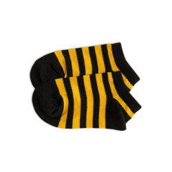 جوراب بچگانه طرح زنبوری (راه راه زرد و مشکی) مدل HSMK632