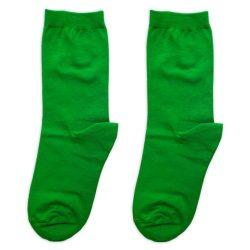جوراب ساق دار ساده سبز مدل HSS638