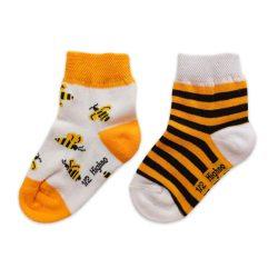 جوراب بچگانه تا به تا طرح زنبور (1 تا 3 سال) مدل HSMK625