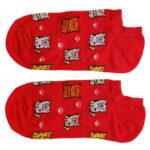 جوراب قوزکی قرمز طرح گربه مدل HSG658