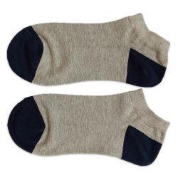 جوراب مچی مردانه طوسی سادهHSM710