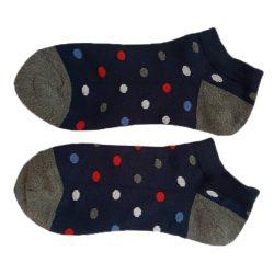 جوراب مچی مردانه سورمه ای طرح خال خالیHSM711