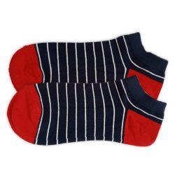 جوراب مچی مردانه سورمه ای طرح راه راهHSM712