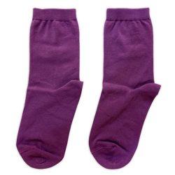 جوراب ساق دار ساده بنفش مدل HSS662
