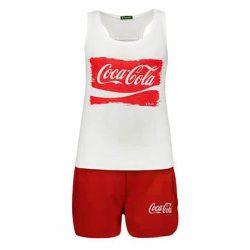 ست تاپ و شورتک طرح کوکاکولا مدل CocaSet