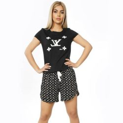 ست تی شرت و شورتک و جوراب طرح لویی ویتون مدل LouisVuittonSet