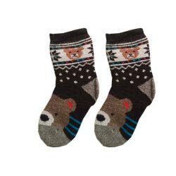 جوراب بچگانه پشمی طرح خرس
