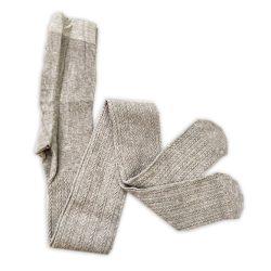جوراب شلواری بافت زنانه گندم طوسی
